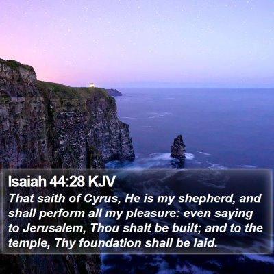 Isaiah 44:28 KJV Bible Verse Image