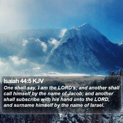 Isaiah 44:5 KJV Bible Verse Image