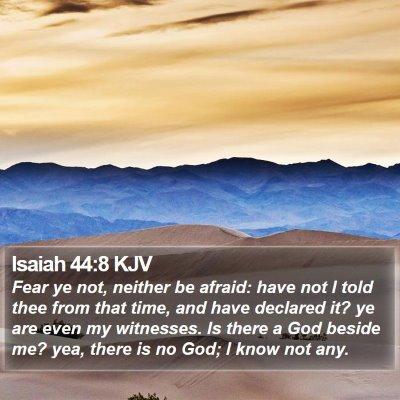 Isaiah 44:8 KJV Bible Verse Image