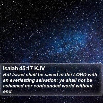 Isaiah 45:17 KJV Bible Verse Image