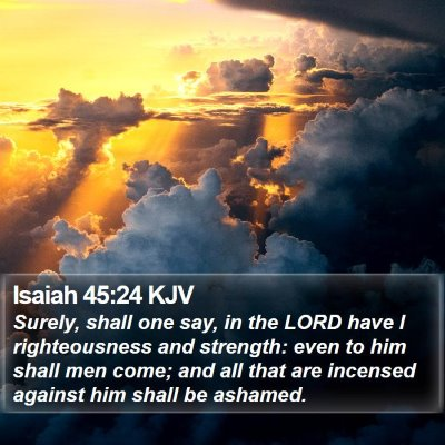 Isaiah 45:24 KJV Bible Verse Image