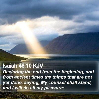 Isaiah 46:10 KJV Bible Verse Image