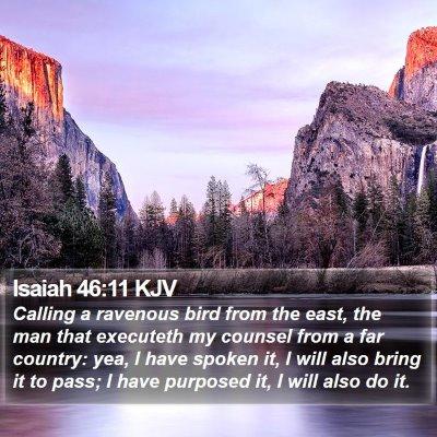 Isaiah 46:11 KJV Bible Verse Image