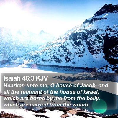 Isaiah 46:3 KJV Bible Verse Image