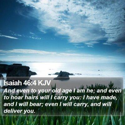 Isaiah 46:4 KJV Bible Verse Image