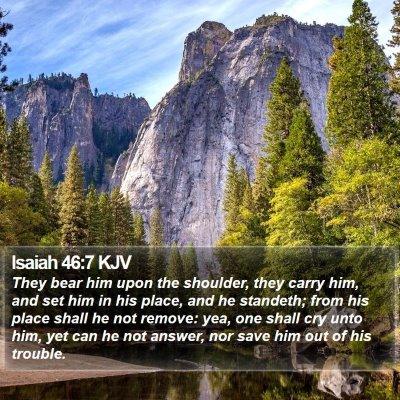 Isaiah 46:7 KJV Bible Verse Image