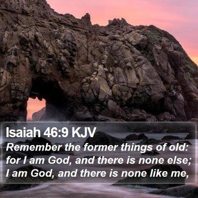 Isaiah 46:9 KJV Bible Verse Image