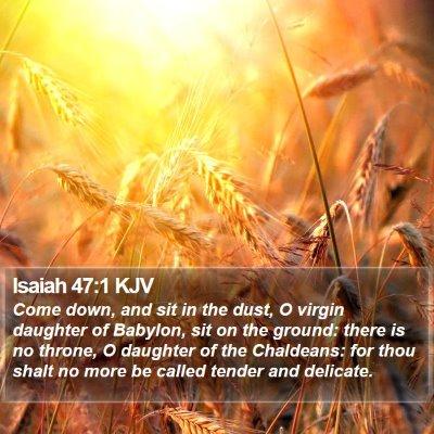 Isaiah 47:1 KJV Bible Verse Image