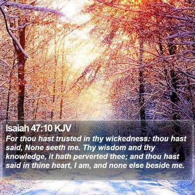 Isaiah 47:10 KJV Bible Verse Image