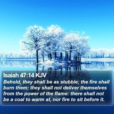 Isaiah 47:14 KJV Bible Verse Image