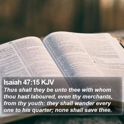 Isaiah 47:15 KJV Bible Verse Image