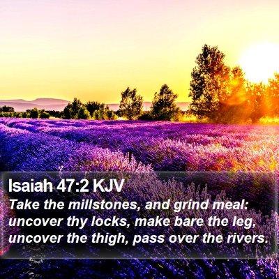 Isaiah 47:2 KJV Bible Verse Image