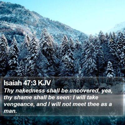 Isaiah 47:3 KJV Bible Verse Image