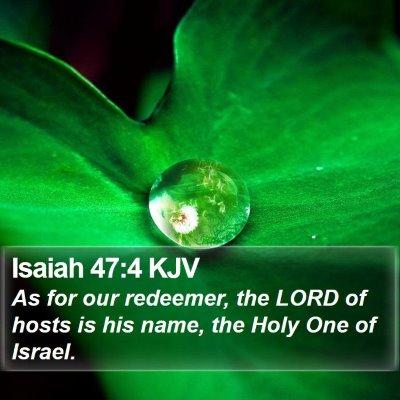 Isaiah 47:4 KJV Bible Verse Image