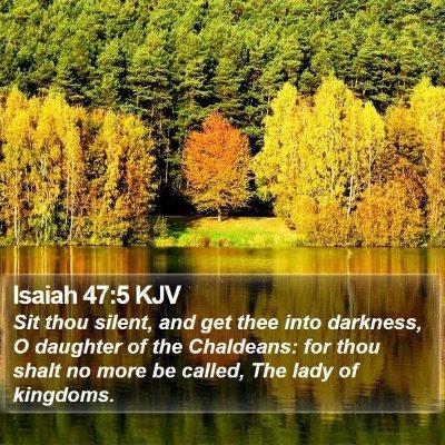 Isaiah 47:5 KJV Bible Verse Image