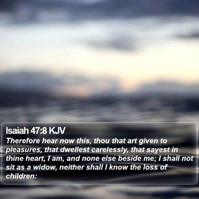 Isaiah 47:8 KJV Bible Verse Image