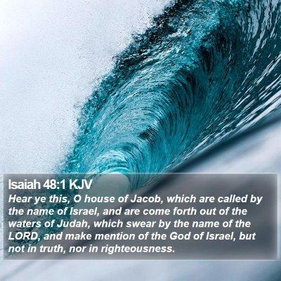 Isaiah 48:1 KJV Bible Verse Image