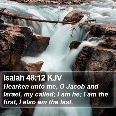 Isaiah 48:12 KJV Bible Verse Image