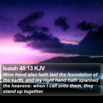 Isaiah 48:13 KJV Bible Verse Image