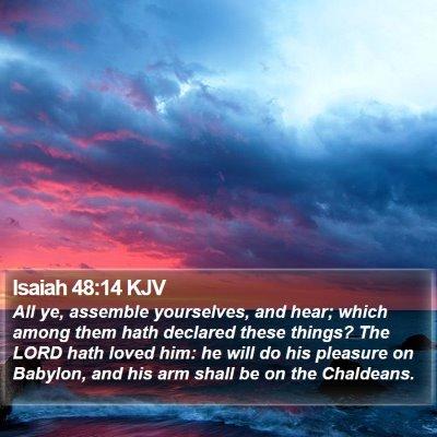 Isaiah 48:14 KJV Bible Verse Image