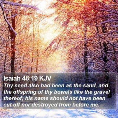 Isaiah 48:19 KJV Bible Verse Image