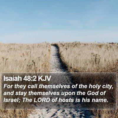 Isaiah 48:2 KJV Bible Verse Image