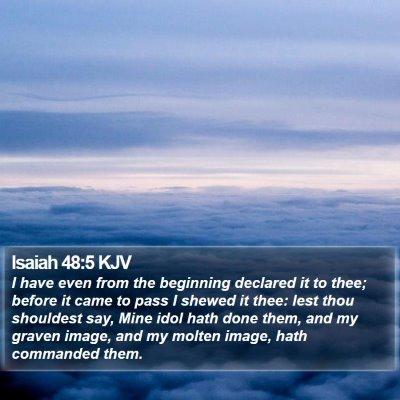 Isaiah 48:5 KJV Bible Verse Image