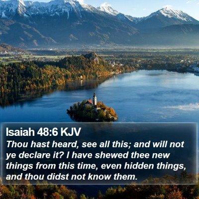 Isaiah 48:6 KJV Bible Verse Image