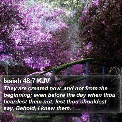 Isaiah 48:7 KJV Bible Verse Image