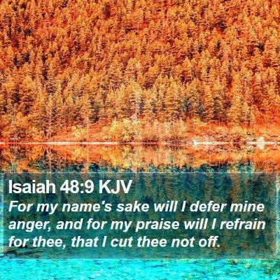 Isaiah 48:9 KJV Bible Verse Image