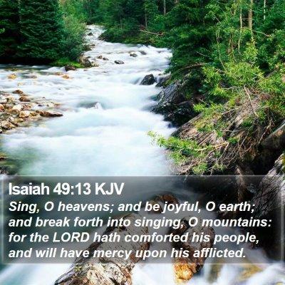 Isaiah 49:13 KJV Bible Verse Image