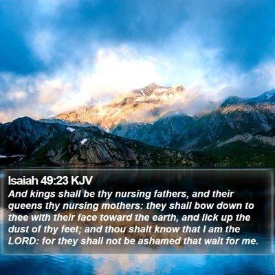 Isaiah 49:23 KJV Bible Verse Image