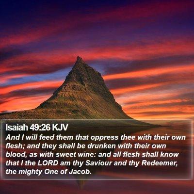 Isaiah 49:26 KJV Bible Verse Image
