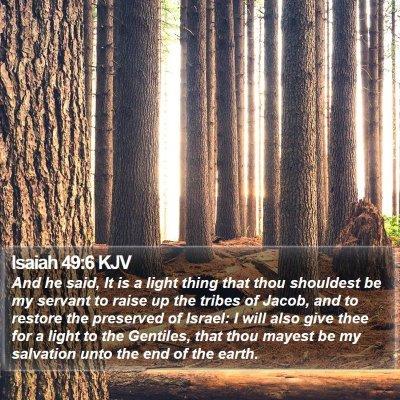 Isaiah 49:6 KJV Bible Verse Image