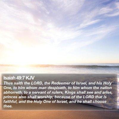 Isaiah 49:7 KJV Bible Verse Image