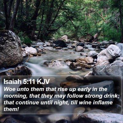 Isaiah 5:11 KJV Bible Verse Image