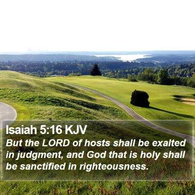 Isaiah 5:16 KJV Bible Verse Image