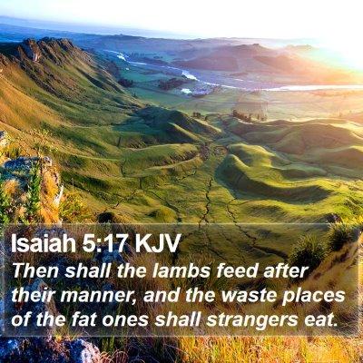Isaiah 5:17 KJV Bible Verse Image
