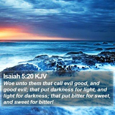 Isaiah 5:20 KJV Bible Verse Image