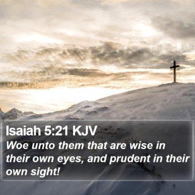 Isaiah 5:21 KJV Bible Verse Image