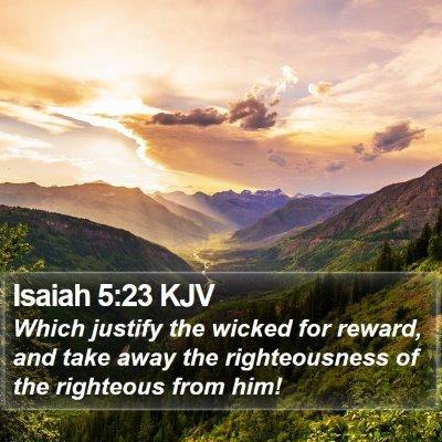 Isaiah 5:23 KJV Bible Verse Image
