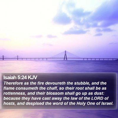 Isaiah 5:24 KJV Bible Verse Image
