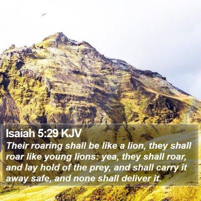 Isaiah 5:29 KJV Bible Verse Image