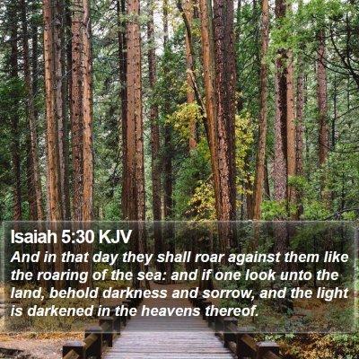 Isaiah 5:30 KJV Bible Verse Image