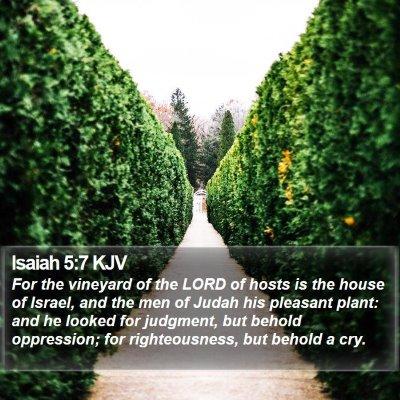 Isaiah 5:7 KJV Bible Verse Image