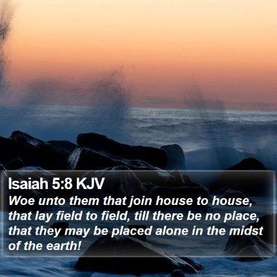Isaiah 5:8 KJV Bible Verse Image