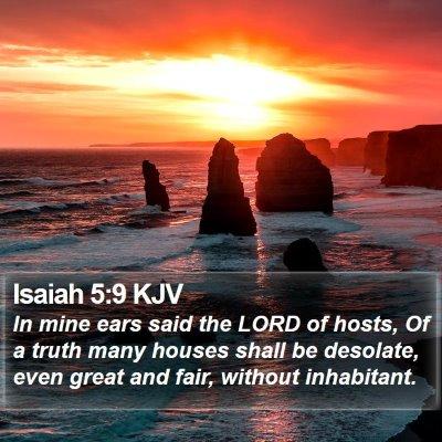 Isaiah 5:9 KJV Bible Verse Image