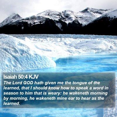 Isaiah 50:4 KJV Bible Verse Image