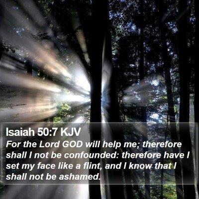 Isaiah 50:7 KJV Bible Verse Image
