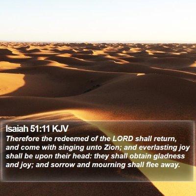 Isaiah 51:11 KJV Bible Verse Image